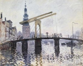 Claude Monet - The Drawbridge Amsterdam 1874