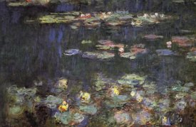 Claude Monet - Water Lilies Green Reflections