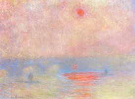 Claude Monet - Waterloo Bridge Sun Through The Mist 1903