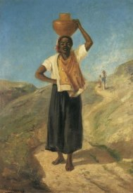 Camille Pissarro - Woman Carrying A Pitcher On Her Head St Thomas 1854