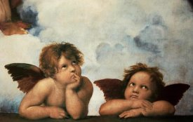 Raphael - Cherubs Virgin Mary (detail)