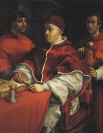 Raphael - Leo X With Cardinals De Medici And De Rossi