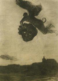 Odilon Redon - Devil Carrying Off A Head