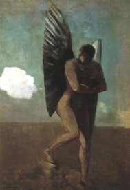 Odilon Redon - Fallen Angel Looking At A Cloud