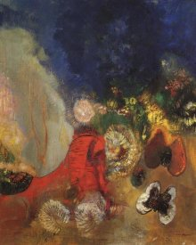Odilon Redon - The Red Sphinx