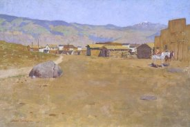 Frederic Remington - A Mining Town Wyoming