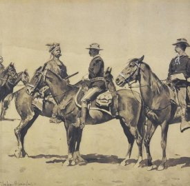 Frederic Remington - Detail The Meeting With The US Cavalry