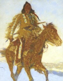 Frederic Remington - Detail The Snow Trail