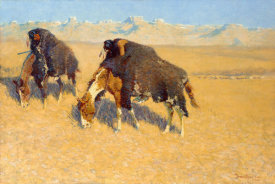 Frederic Remington - Indians Simulating Buffalo