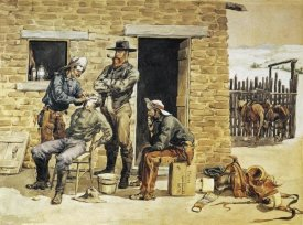 Frederic Remington - Sunday Morning Toilet On The Ranch