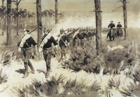 Frederic Remington - US Troops Practicing Marching In The Palmetto
