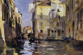 John Singer Sargent - A Side Canal, Venice, 1902-04