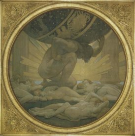 John Singer Sargent - Atlas and the Hesperides, 1922