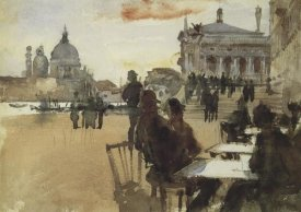 John Singer Sargent - Cafe on the Riva degli Schiavoni