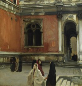 John Singer Sargent - Campo behind the Scuola di San Rocco, 1882