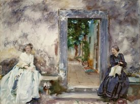 John Singer Sargent - Doorway - the Garden Wall