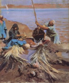 John Singer Sargent - Egyptians Raising Water from Nile, 1890