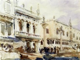 John Singer Sargent - The Piazzetta and the Doge's Palace