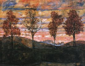 Egon Schiele - Four Trees 1917