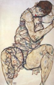 Egon Schiele - Seated Woman With Left Hand In Hair
