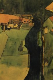 Egon Schiele - Town On The Blue River 1910