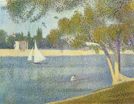 Georges Seurat - The Seine At La Grande Jatte In The Spring