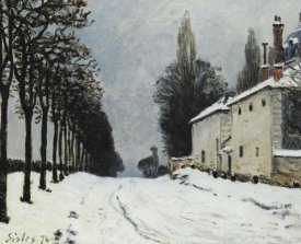 Alfred Sisley - Snow On The Road Louveciennes