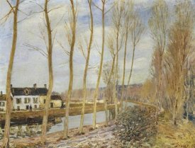 Alfred Sisley - The Canal Du Loing At Moret