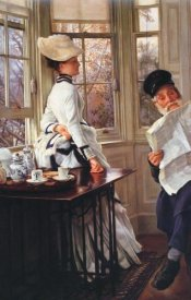 James Tissot - Reading The News