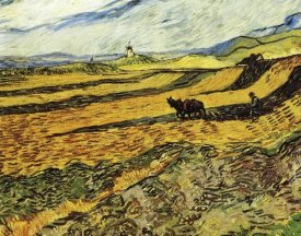 Vincent Van Gogh - Ploughman And Mill