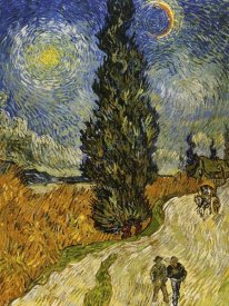 Vincent Van Gogh - Road Cypress And Star