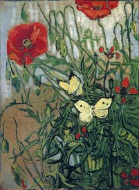 Vincent Van Gogh - Butterflies And Poppies