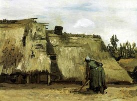 Vincent Van Gogh - Cottage With Woman Digging