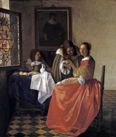 Johannes Vermeer - A Lady And Two Gentlemen