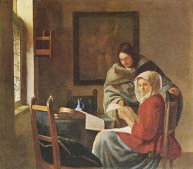 Johannes Vermeer - Gentleman And The Girl With Music