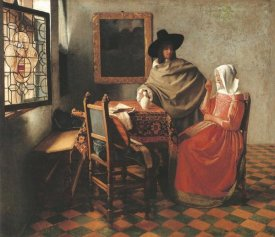 Johannes Vermeer - Gentleman And Woman Drinking