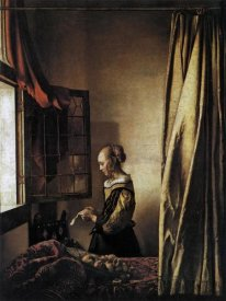 Johannes Vermeer - Girl Reading A Letter At An Open Window