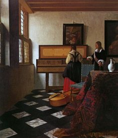 Johannes Vermeer - Lady At The Virginals With A Gentleman