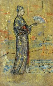 James McNeill Whistler - A Japanese Woman Painting A Fan 1872
