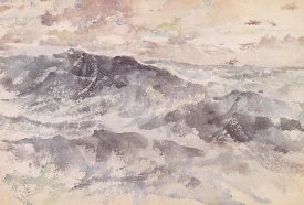 James McNeill Whistler - Arrangement In Blue And Silver The Great Sea 1885