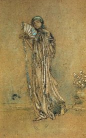 James McNeill Whistler - Blue And Rose The Open Fan 1890s