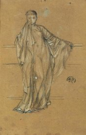 James McNeill Whistler - Draped Figure At A Railing 1868