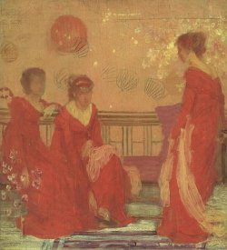 James McNeill Whistler - Harmony In Flesh Colour And Red 1869