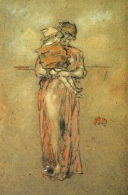 James McNeill Whistler - Rose And Red Little Pink Cap 1889