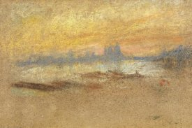 James McNeill Whistler - Sunset Red And Gold Salute 1880