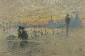 James McNeill Whistler - Sunset Red And Gold The Gondolier 1880