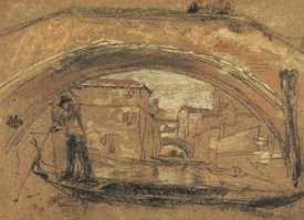 James McNeill Whistler - The Old Bridge Winter 1879