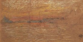 James McNeill Whistler - The Riva Sunset Red And Gold 1880