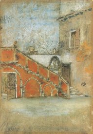 James McNeill Whistler - The Staircase Note In Red 1880