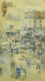 James McNeill Whistler - Variations In Violet And Grey Market Place Dieppe 1885